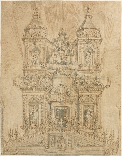 Simone Felice DELINO (1655-1697) - Project of the ephemeral facade of Trinité des Monts