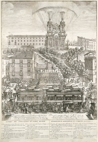 Paintings & Drawings  - Simone Felice DELINO (1655-1697) - Project of the ephemeral facade of Trinité des Monts