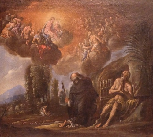 Francesco Maffei Vicenza 1605 - Padova 1660) - I santi Antonio Abate e Paolo Eremita