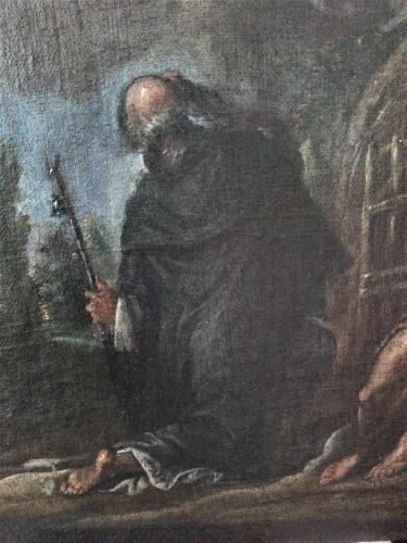 17th century - Francesco Maffei Vicenza 1605 - Padova 1660) - I santi Antonio Abate e Paolo Eremita