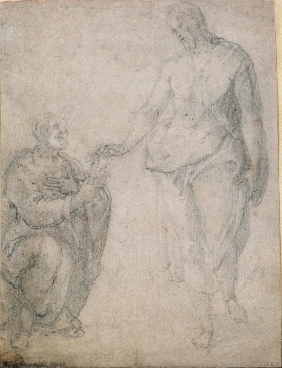 Girolamo MUZIANO (Brescia, 1532 - Rome, 1592) - The handover of the keys to  Saint Peter