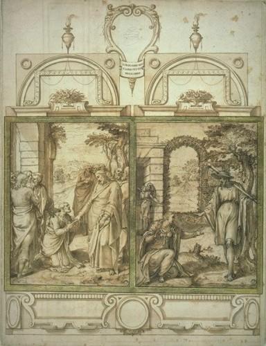 Girolamo MUZIANO (Brescia, 1532 - Rome, 1592) - The handover of the keys to Saint Peter -
