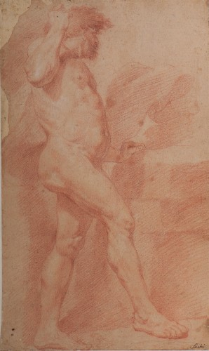 Andrea SACCHI and workshop (Nettuno, 1599 - Rome 1661) - study of Vulcan or Cyclops man