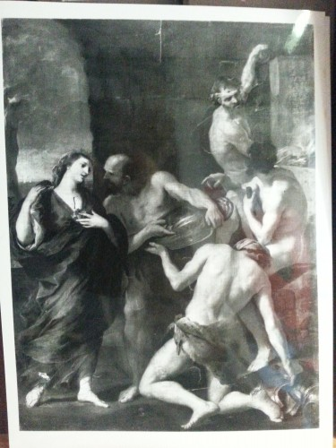 Paintings & Drawings  - Andrea SACCHI and workshop (Nettuno, 1599 - Rome 1661) - study of Vulcan or Cyclops man