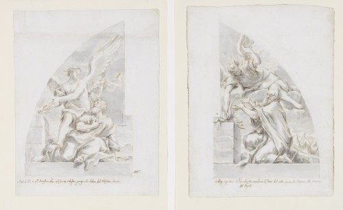 Niccolo RICCIOLINI (Rome, 1687 - 1757) - Pair of drawings