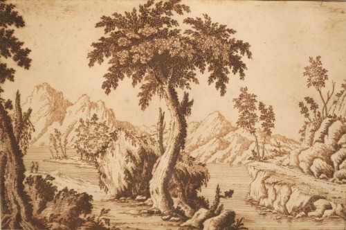Francesco BOSIO (Bologna, 1725 - 1756) - Lake Landscape