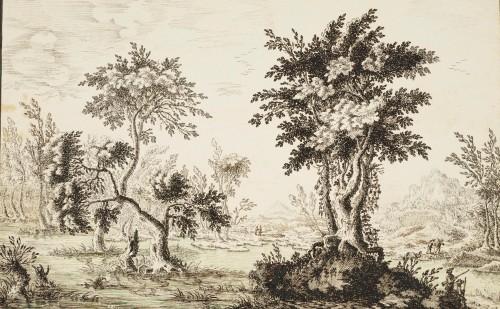 Francesco BOSIO (Bologna, 1725 - 1756) - Lake Landscape -