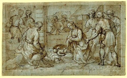 Paintings & Drawings  - Bernardo CASTELLO (Albaro, 1557 - Genes 1629) - Att. Alexander the Great before Darius