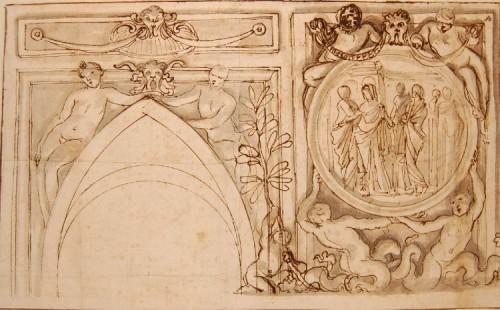 Giovanni Francesco GRIMALDI (1606 - 1680) - Project for the interior decoration of Roman palaces -