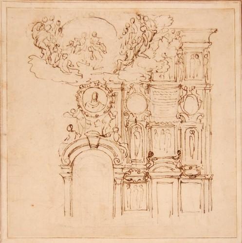 Giovanni Francesco GRIMALDI (1606 - 1680) - Project for the interior decoration of Roman palaces - Louis XIV