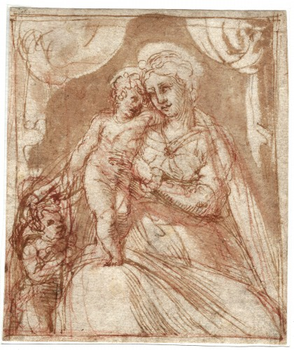 Italian School of the second quarter of the 16th century - The Virgin and Child with St. John the Ba