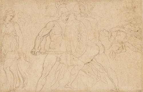 Girolamo SELLARI known as Girolamo da CARPI (1501 - 1556) - Studies of sarcophagus