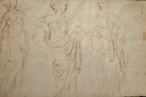 Girolamo SELLARI known as Girolamo da CARPI (1501 - 1556) - Studies of sarcophagus - Paintings & Drawings Style Renaissance