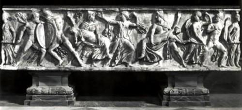 Paintings & Drawings  - Girolamo SELLARI known as Girolamo da CARPI (1501 - 1556) - Studies of sarcophagus