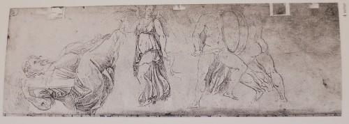 Girolamo SELLARI known as Girolamo da CARPI (1501 - 1556) - Studies of sarcophagus -