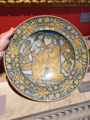 Ceremonial dish in lustrous earthenware from Deruta, 1st third of the 16th century - Porcelain & Faience Style Renaissance