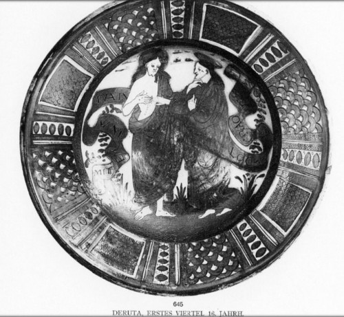 Ceremonial dish in lustrous earthenware from Deruta, 1st third of the 16th century - Renaissance