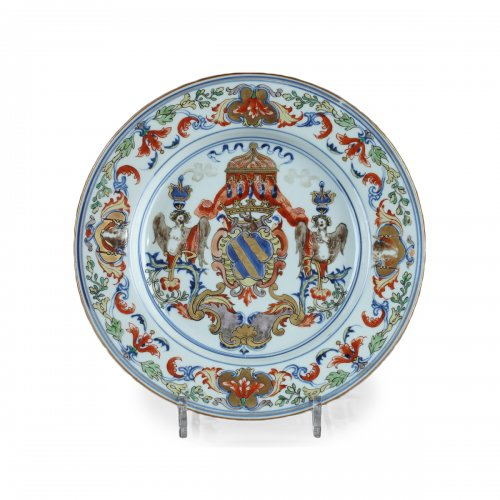 China Exportware - Dish with the coats of arms of the ATAIDE familly