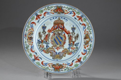China Exportware - Dish with the coats of arms of the ATAIDE familly -
