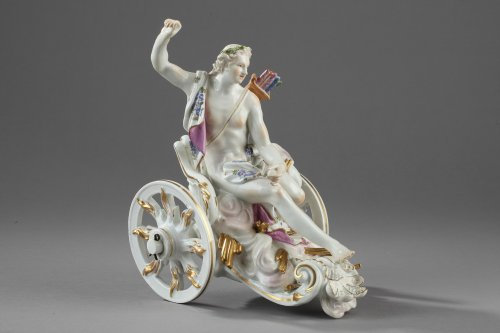 Meissen Apollon on his chariot, by KAENDLER circa 1755 - Porcelain & Faience Style