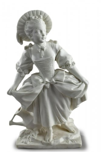 "Vincennes - ""La Danseuse"", biscuit according to Boucher 18th century"