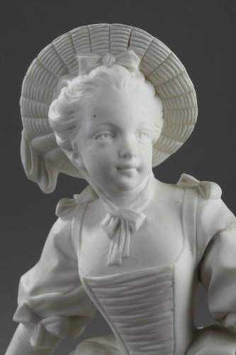 "Porcelain & Faience  - Vincennes - ""La Danseuse"", biscuit according to Boucher 18th century"