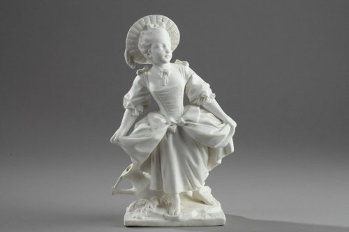 "18th century - Vincennes - ""La Danseuse"", biscuit according to Boucher 18th century"