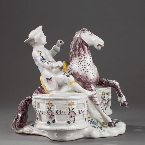 Samadet - Faïence cruets holder, second half of 18th century.