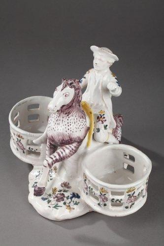 Samadet - Faïence cruets holder, second half of 18th century. - Porcelain & Faience Style