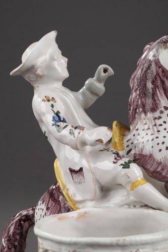 Samadet - Faïence cruets holder, second half of 18th century. -