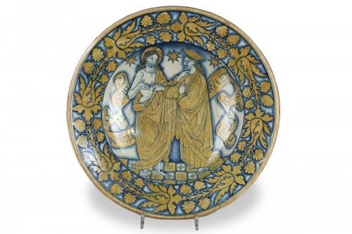 Deruta (Italy) - Large ceremonial dish, first third of the16th century