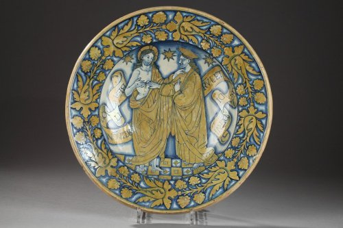 16th century - Deruta (Italy) - Large ceremonial dish, first third of the16th century