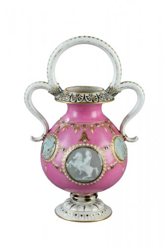 """Sèvres """"Vase Bijou"""" in """"Pâte sur Pâte"""", year 1863"""