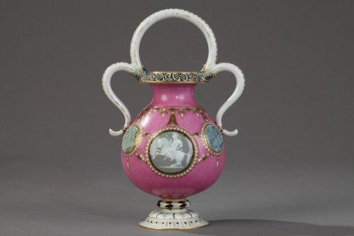 """Antiquités - Sèvres """"Vase Bijou"""" in """"Pâte sur Pâte"""", year 1863"""