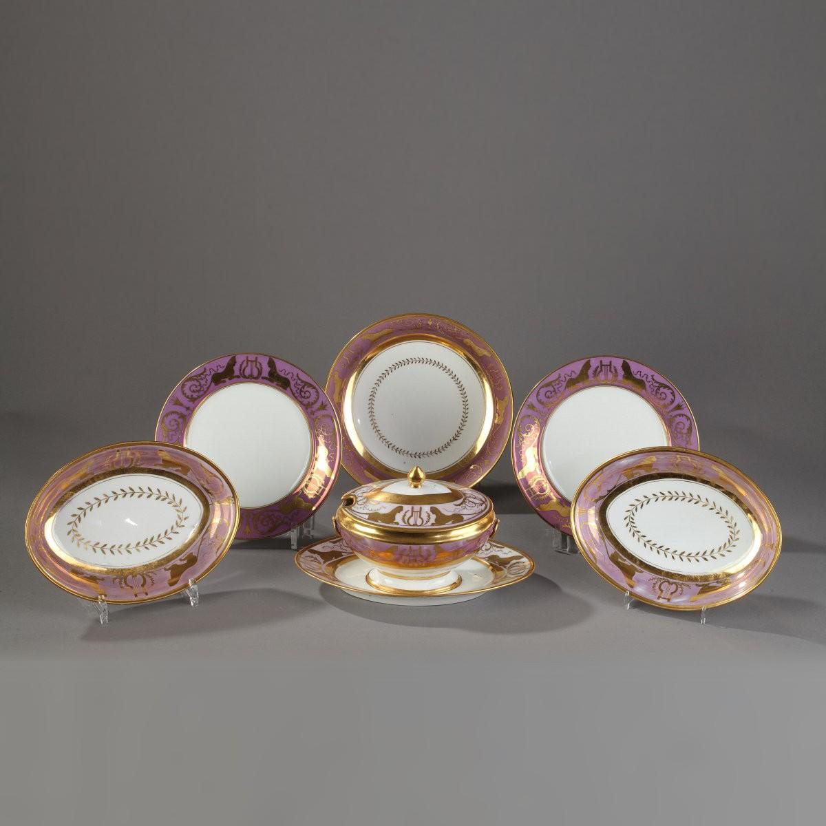 Paris Porcelain Art Nouveau Period Lamp Chinese Taste: VORONTSOV Service, DAGOTY Paris