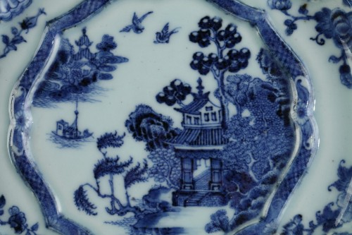 Two armorial dishes, China export ware circa 1750 -