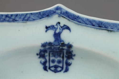 18th century - Two armorial dishes, China export ware circa 1750