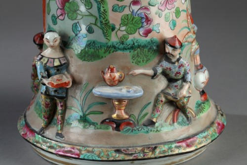 Paire of Bayeux vases, 19th century. -