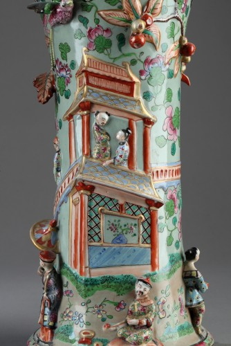 19th century - Paire of Bayeux vases, 19th century.