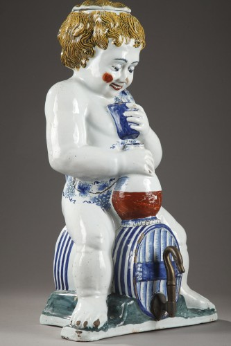 Porcelain & Faience  - Lille, large faience fountain, 18th century