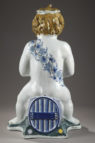 18th century - Lille, large faience fountain, 18th century