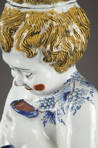 - Lille, large faience fountain, 18th century