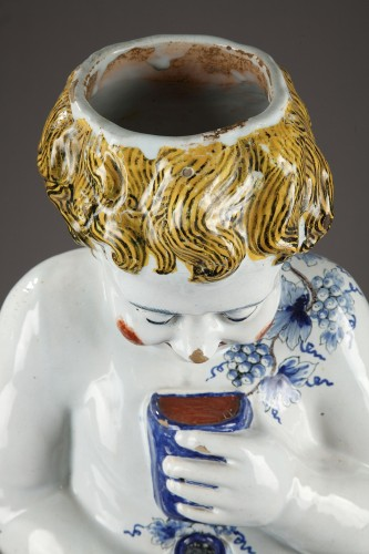 Antiquités - Lille, large faience fountain, 18th century