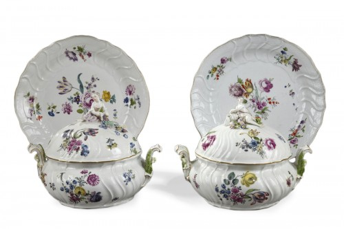 Pair of terrines Meissen circa 1750