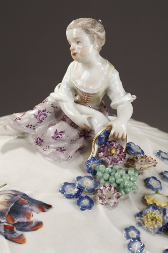 18th century - Pair of terrines Meissen circa 1750