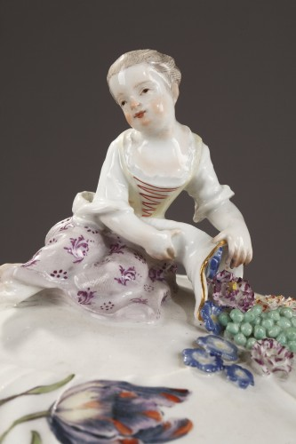 Pair of terrines Meissen circa 1750 -