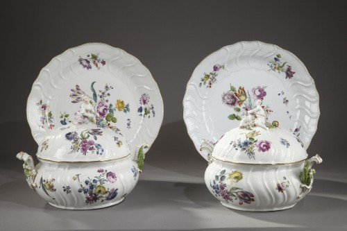 - Pair of terrines Meissen circa 1750