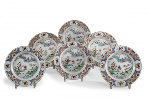 Set of six export ware plates, China Circa 1735