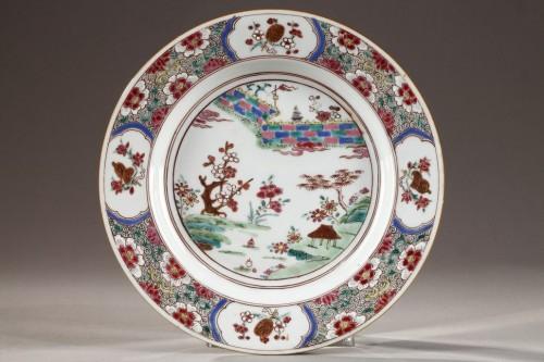 Set of six export ware plates, China Circa 1735 -