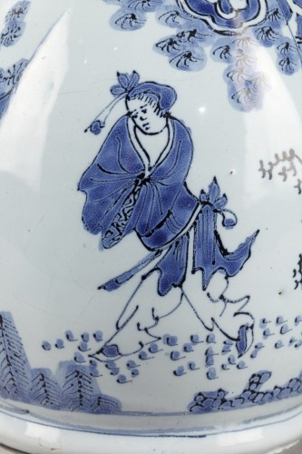 - Earthernware jug and its cover, Delft 17th century
